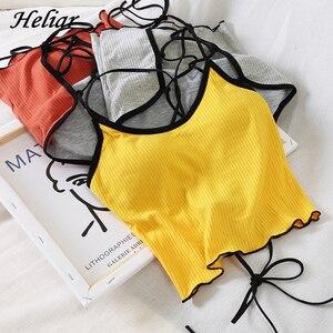 HELIAR Tops Women Halter Backless Bandage Sexy Crop Tops Women Cotton Seamless Underwear Tank Crop Top For Women 2020 Summer(China)