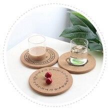 NEW European Vintage Cork Insulation Pad Round Coffee Coaster Kitchen Pot Bowl Mat Placemat Home Cup Mat Tea Pad Wooden Tablemat