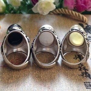 Image 2 - Best nuovo di vendita degli uomini di anello in argento 925 Anello In Argento Sterling set con pietre naturali anello dargento per gli uomini thai argento anello Uomo