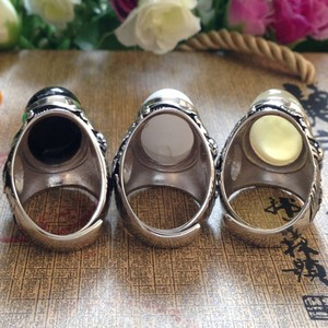 Image 2 - Best selling new mens silver ring 925 Sterling Silver Ring  set with natural stones silver ring for men  Thai silver Man's ring