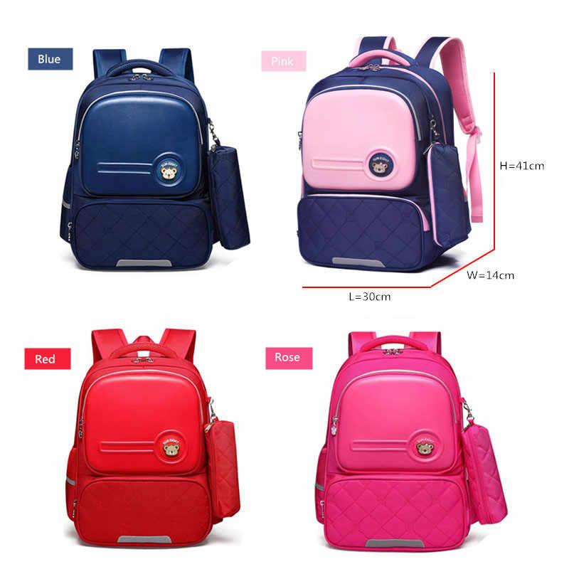 Okkid Kinderen Schooltassen Voor Meisjes Schattige Koreaanse Stijl Kids Roze Bag Orthopedische School Rugzak Voor Jongen Waterdichte Boekentas Gift