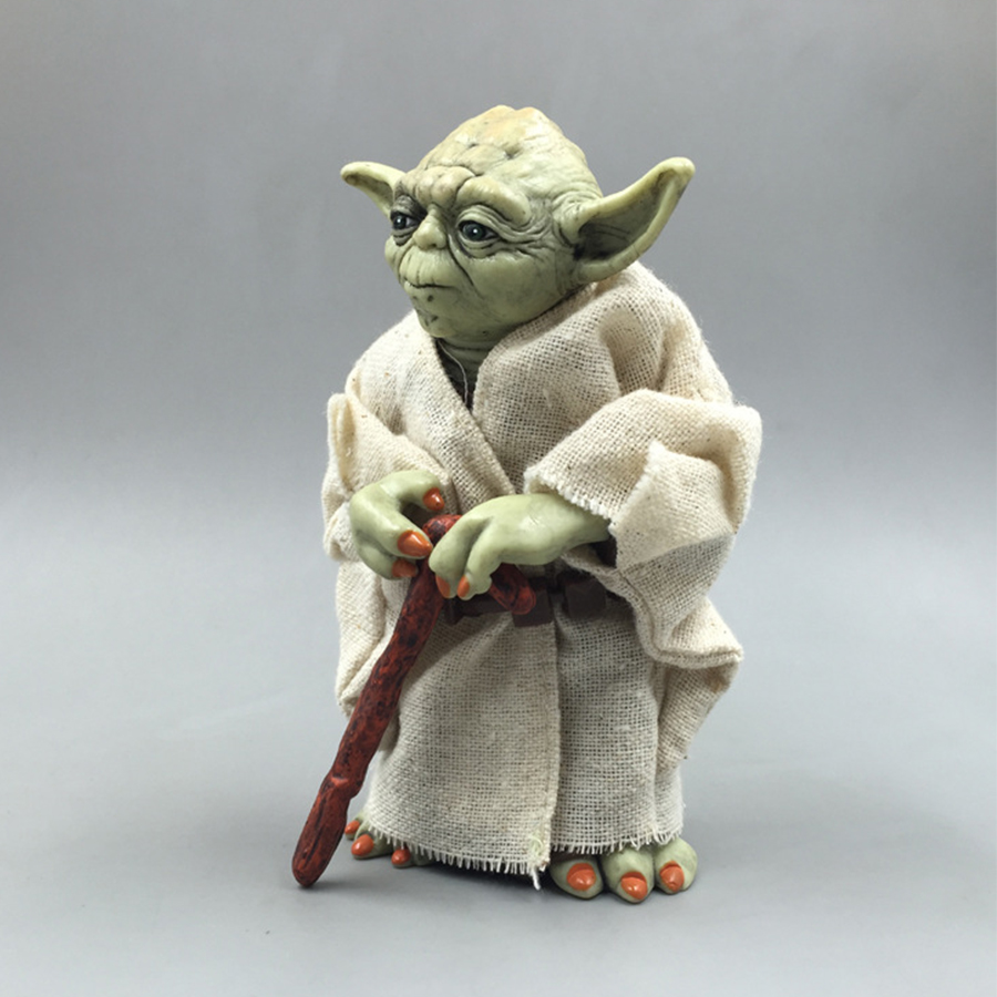 Star Wars Monster Yoda Darth Vader Action Figure Doll Toys The Force Awakens Jedi Master Yoda Anime Figures Lightsaber 3