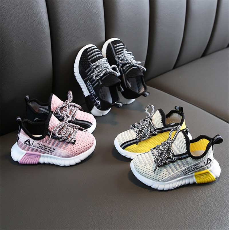 2020 Autumn Children Shoes Boys Girls Sport Shoes Breathable Infant Shoes Sneakers Soft Bottom Non-Slip Casual Kids Shoes