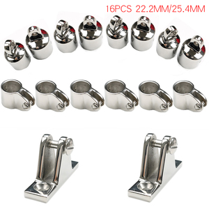 Image 2 - Bimini Top Fitting Marine Grade 316 Stainless Steel Slide Sleeve Cap Base Mount Hinge Sets Yacht Boat Accessories