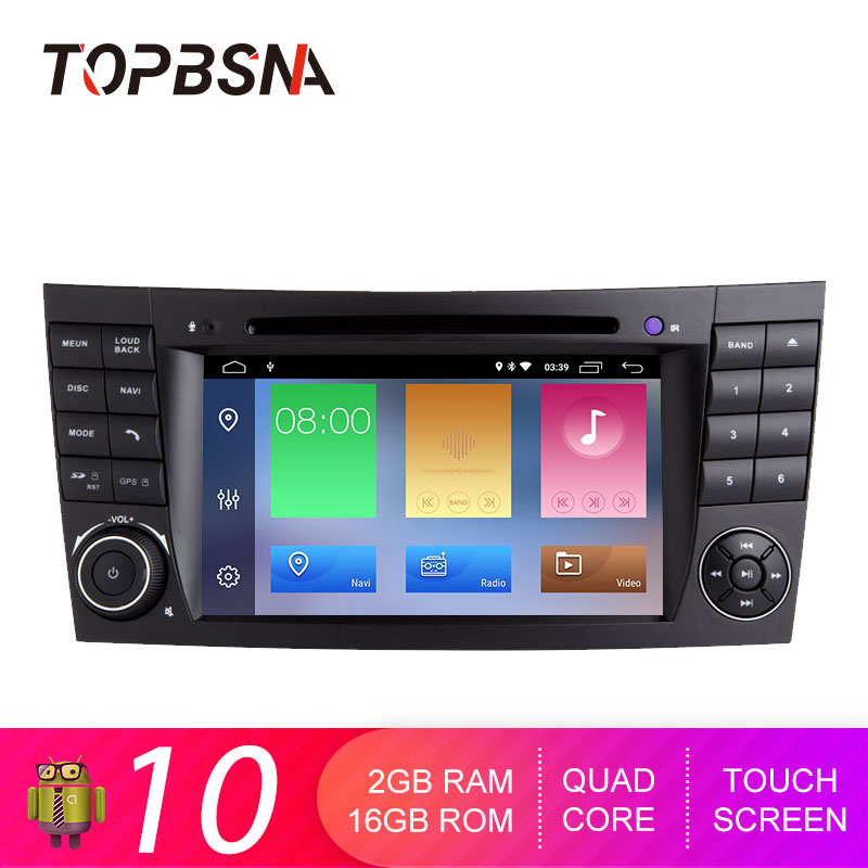 TOPBSNA Android 10 Car DVD Player For <font><b>Mercedes</b></font> Benz E-class <font><b>W211</b></font> E300 E200 E220E350 E240 E270 E280 CLS W219 WIFI <font><b>GPS</b></font> Navi Stereo image