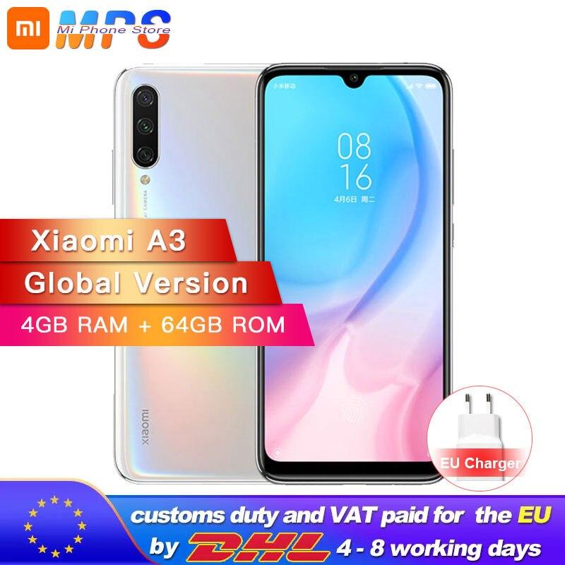 Version mondiale Xiao mi A3 mi A3 4GB 64GB Smartphone Snapdragon 665 Octa Core 6.088