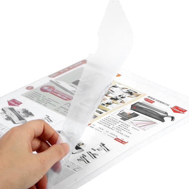Comix E310-1 Transparent A4 Document Folder Information Case Dan Pian Jia L-Shape File Holder Single Page Folder Wholesale