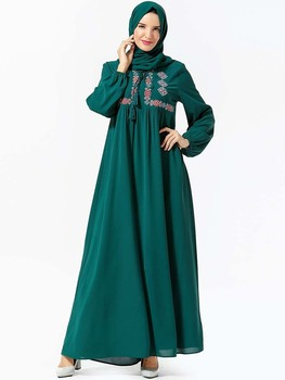 Long Dubai Fashion Abaya Turkish Clothes Dresses For Arabic Women Clothing