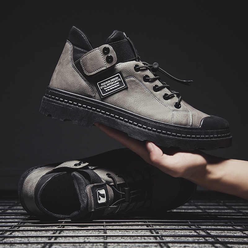 2019 kış erkek botları sıcak PU deri erkek su geçirmez ayakkabı Chaussure erkek rahat ayakkabılar erkekler için bot ayakkabı erkek Sneakers
