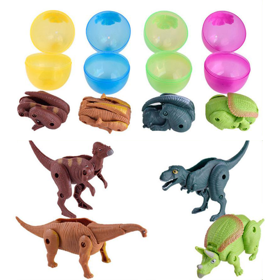Toys For Children Easter Surprise Eggs Simulation Dinosaur Toy Model Deformed Dinosaurs Egg Toy For Children Collection Gift