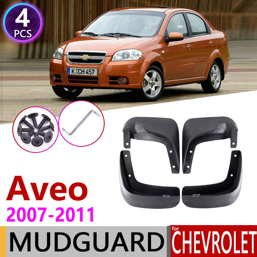 Mudflap for Chevrolet <font><b>Aveo</b></font> Sedan Saloon <font><b>T250</b></font> 2007~2011 Fender Mud Guard Flaps Splash Flap Mudguards Accessories 2008 2009 2010 image