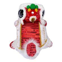 Забавная Одежда для собак китайский костюм питомца нового года