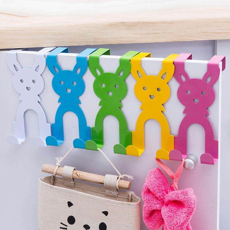 Cartoon Rabbit Hook Cute Stainless Steel Over The Door Hanger Hook Hat Coat Holder Popular New