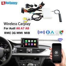 Bezprzewodowa nawigacja Carplay wsparcie IOS Android lusterko samochodowe Link rewers powietrza samochód grać dla Audi A6 C6 C7 A7 A8 A8 D3 D4 MMI 3G tanie tanio HaiSunny CN (pochodzenie) Double Din 6 5 128G Windows ce Dvd-r rw Dvd-ram Video cd Jpeg Aluminum 1024*600 Bluetooth Wbudowany gps