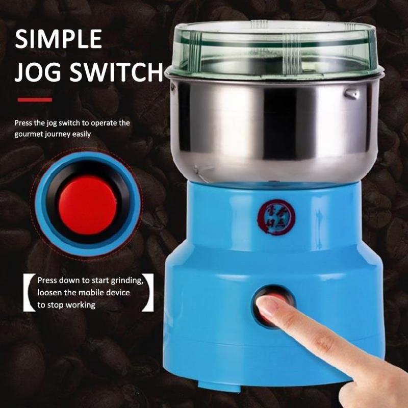 150/250W Electric Coffee Bean Grinder Mill Kitchen Tool Herbs Salt Pepper Spices Nuts Grains Mini Medicine Flour Powder Crusher