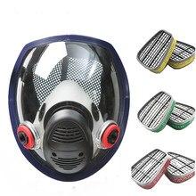 Nova chegada anti máscara de gás industrial química pintura pulverização pesticidas respirador filtro poeira máscara facial completa substituir 3m 6800