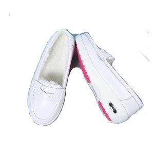 Image 4 - BEYARNEWomen płaskie buty kobieta obuwie miękkie wygodne damskie SlipOn pielęgniarka mokasyny białe oddychające płaskie zapatillas mujer