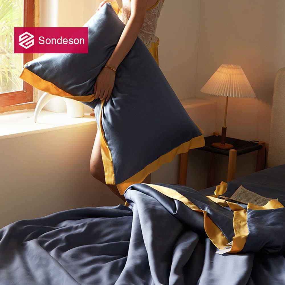 Sondeson di Lusso 100% di Seta Nobile Verde Bellezza Federa Sano Della Pelle Dei Capelli Coperture per Cuscini Donne di Seta Fodere Per Cuscini Per Dormire Bene
