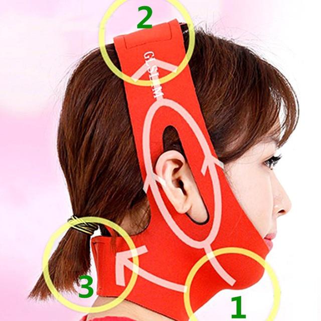 Facial Care Tool Facial Thin Face Slimming Bandage Mask Belt Shape Lift Reduce Double Chin Skin-friendly  Slimming Bandage Skin 3