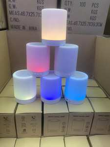 Nasin Table-Lamp Bluetooth-Speaker Bedside Wireless with Tf-Card Touch-Control Color