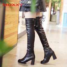 2019 New Sexy Thigh High Boots High Heels Boots Women Winter Over The Knee Boots Platform Leather Black Long Boots Shoes Woman new fashion half knee high boots sexy high heels boots shoes winter autumn platform motorcycle snow style boots for women