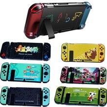 Твердый прозрачный чехол с цветным рисунком, защитный чехол, чехол для приставки телевизора Nintendo Switch Joy con