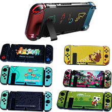 Colorful Pattern Hard Placstic Crystal Case Protective Cover Shell Case Fit In TV Dock  for Nintend Switch Joy con Console Skin