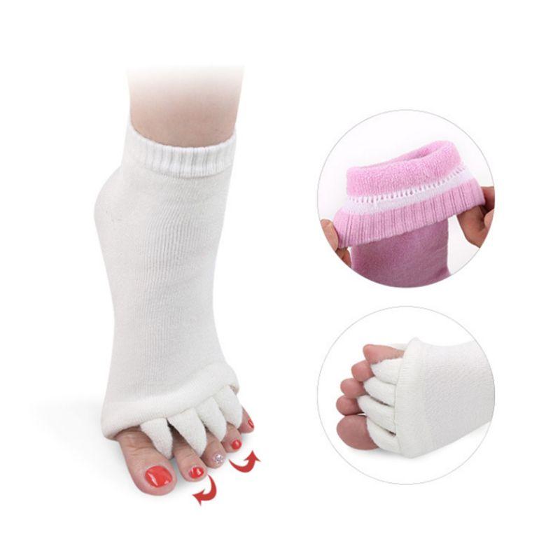 Unisex Five Fingers Socks For Sleeping Health Foot Care Massage  Hallux Valgus Compression Treatment Toe Socks