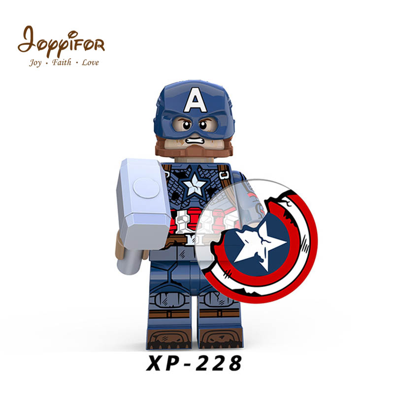 Avengers Assembly Captain With Broken Shield Bear Fat Thor Compatible Legoingly  Building Blocks Brick Dolls Toys For Children