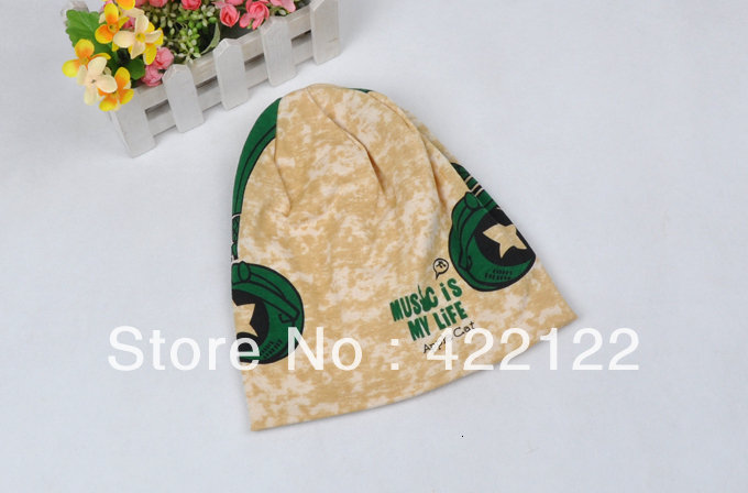 Winter Keep Warm Knitted Hats For Boy/girl/kits Hats,infants Caps Beanines Chilldren Headphones Camouflage Turtleneck ZA08 1pcs