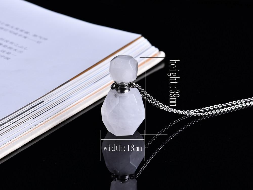 perfume garrafa pingente transparente quartzo difusor de