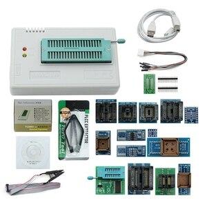 Новинка V8.33 Tl866Ii Plus Универсальный Minipro программатор Tl866 Nand Flash Avr Pic Bios Usb программатор + 17 шт. адаптер