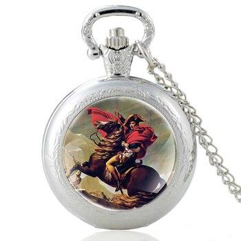 Classic Napoléon Bonaparte Napoleon Vintage Quartz Pocket Watch Pendant Clock Watch Men Women Glass Dome Necklace Best Gifts недорого