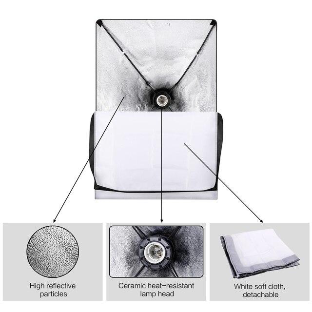 Professional Photo Studio Softbox Lights Continuous Lighting Kit Accessories Equipment With 3Pcs Soft Box,LED Blub,Tripod Stand 1