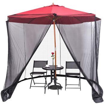 Verkauf Von Angelruten   Sonnenschirm Moskito Netting Mesh Bildschirm Mit Zipper Für Schirme Terrasse Tische TB Verkauf