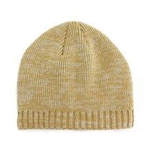 Female Knit Hat Men  Fashion Warm Knitted Winter Hat Fashion Solid Hip-hop Beanie Hat Unisex Soft Warm Crochet  Cap Gorros 2017 unisex women men hat warm winter knit cap hip hop beanie hats warm winter knit caps macka y8093