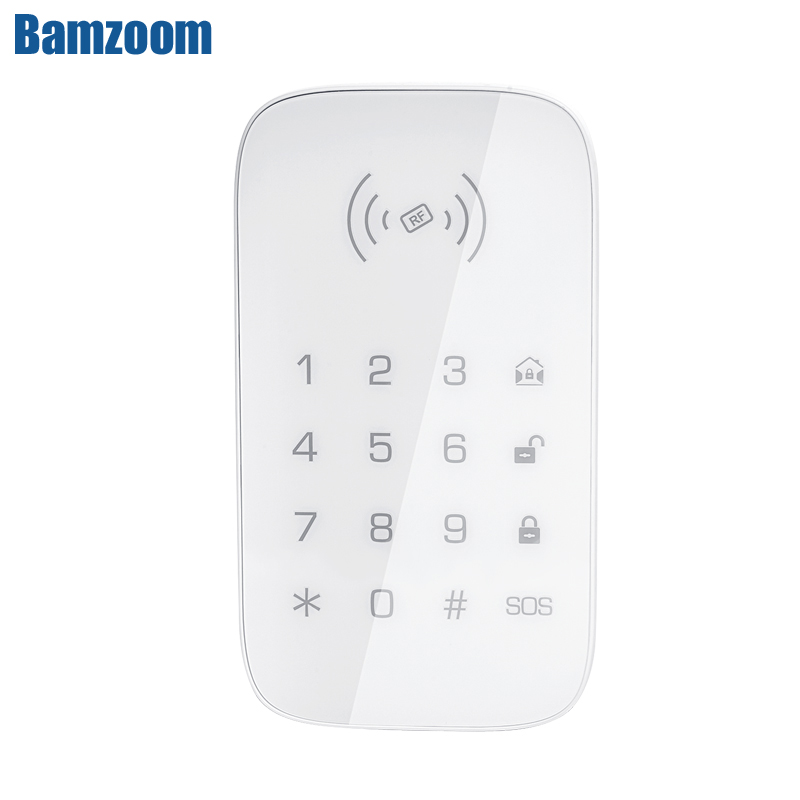 Wireless Touch Keypad for PG103 PG106 PG107 W2B W3B W4B Home Security WIFI GSM Alarm System RFID Card Disarm Password Keypad(China)
