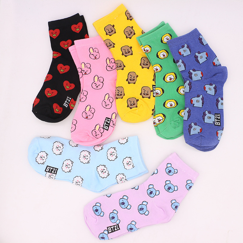 Women's Socks Candy Colorful Cotton Hot Sale New Product High Quality Harajuku Korea Funny Fashion Short Sock Invisible Socks