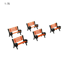 20PCS/LOT 1:75  HO Scale Park Garden Bench Model Landscape Scenery abs plastic model chairs заплатка для одежды 20y12708 20pcs lot 88 75