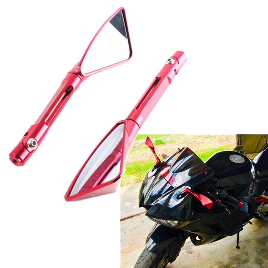 Red Rearview Side Mirrors For HONDA CBR600RR 2009-2015/ For KAWASAKI ER6F 2011 / fit <font><b>SUZUKI</b></font> <font><b>GSX</b></font> <font><b>FA</b></font> <font><b>1250</b></font> BANDIT 2010 image