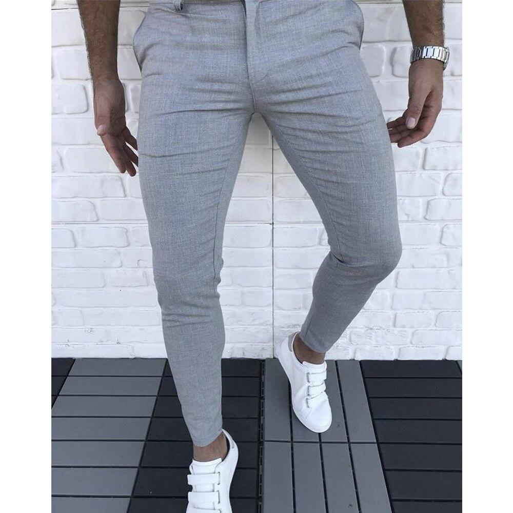 Calças casuais masculinas, calças streetwear da moda