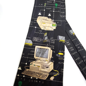 Image 5 - משלוח חינם חדש זכר גברים של מקורי עיצוב כיף נשי מחשב דקורטיבי חולצה מגמת אישית הדפסת עיצוב אירופה ncktie