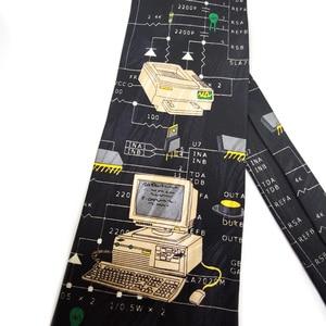 Image 5 - Free Shipping New Male mens Original design Fun computer female decorative shirt trend personalized print design Europe ncktie