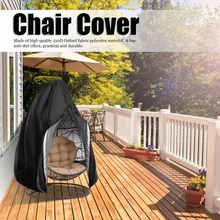 Housse de chaise noire, anti-poussière, anti-usure en forme d'oeuf, protection de mobilier pour chaise d'extérieur, accessoire de mobilier