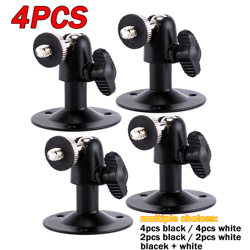 4pcs/2pcs Middle Pucker Wall Indoor Outdoor Adjustable Mount Wall/Ceiling CCTV Bracket Holder Stand Support For Security Camera