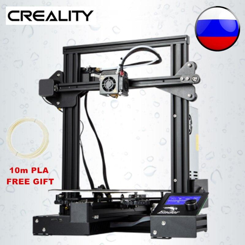 Creality Ender 3 Pro 3D impresora DIY Prusa I3 Creative actualizado UL fuente de alimentación y la impresión de la hoja 220x220x250mm para aficionados Dropship lámpara de Luna 3D 20cm 18cm 15cm cambio colorido toque USB Led luz de noche decoración del hogar regalo creativo