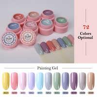 Arte Clavo 5ml Tinta Gel de Cor UV Gel Nail Polish Soak Off Prego Laca Nail Art 72 Cores Glitter prego Rainbow Gel Pintura
