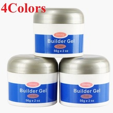 2019 HOT Removable 56g UV Builder Gel Easy to Use Soak Off Extension Polygel Quick Dry 4 Colors Beauty Nail Art Glue