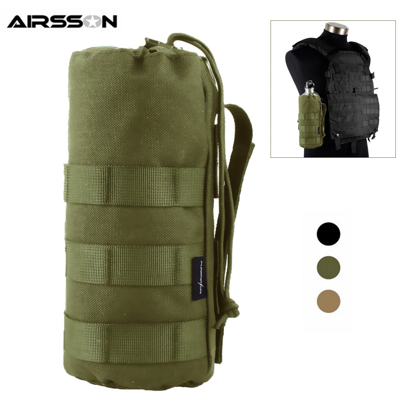 1.5L Tactical Molle Water Bottle Pouch Holster 1000D Portable Military Kettle Bag Outdoor Hydration Carrier For Camping Hiking