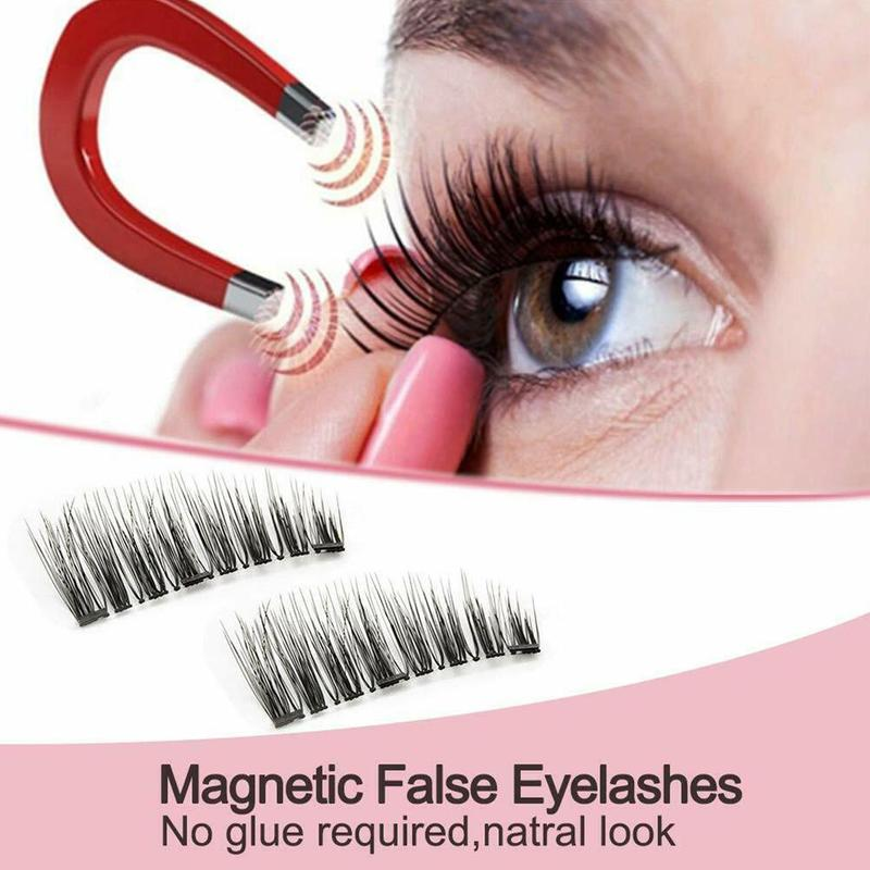 1 PCS <font><b>magnetic</b></font> <font><b>eyelashes</b></font> <font><b>with</b></font> <font><b>4</b></font> <font><b>magnets</b></font> 3D false <font><b>eyelash</b></font> <font><b>magnet</b></font> lashes applicator natural <font><b>eyelashes</b></font> extension <font><b>eyelash</b></font> curler image